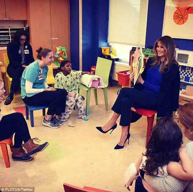 Melania Trump, đệ nhất phu nhân Mỹ, Ngày Sách Thế giới