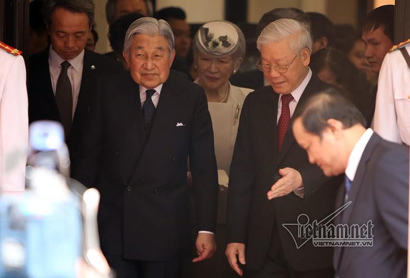 Nhà vua Nhật Bản, Hoàng hậu Nhật Bản, Nhà vua và hoàng hậu Nhật Bản thăm Việt Nam,Tổng bí thư Nguyễn Phú Trọng