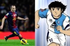 Iniesta và ước mơ trở thành ngôi sao bóng đá nhờ Captain Tsubasa