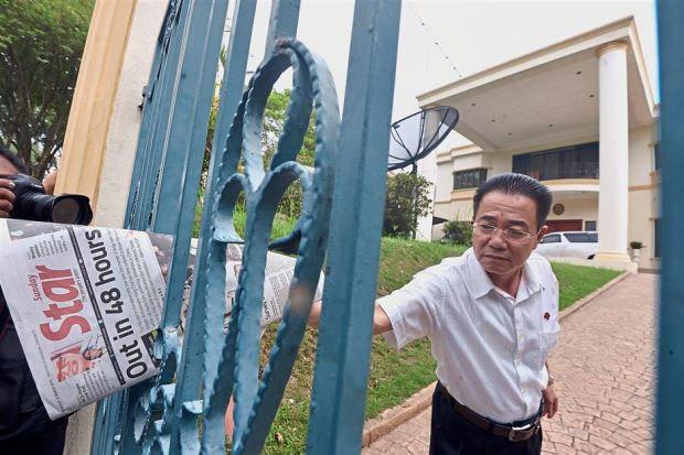 Sứ quán Triều Tiên ở Malaysia bị báo chí 'quây kín'