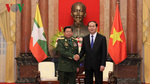 Chủ tịch nước tiếp Tổng Tư lệnh các lực lượng vũ trang Myanmar
