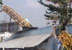 Cần cầu dự án Topaz Home đổ sập trong đêm, 2 người bị thương