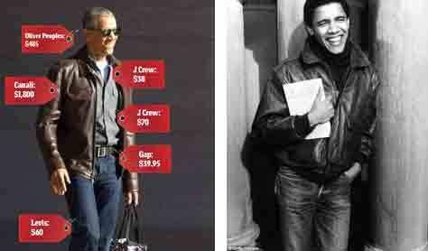 Rời Nhà Trắng, Obama ăn mặc như thời sinh viên