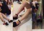 Cô gái bị thang cuốn trung tâm thương mại xé toạc chân