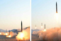 Xem Triều Tiên diễn tập phóng tên lửa đạn đạo