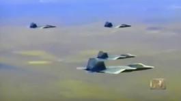Xem tiêm kích F-22 chế ngự loạt chiến cơ F-15