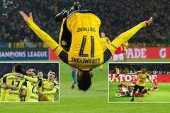 Aubameyang lập hat-trick, Dortmund hiên ngang vào tứ kết
