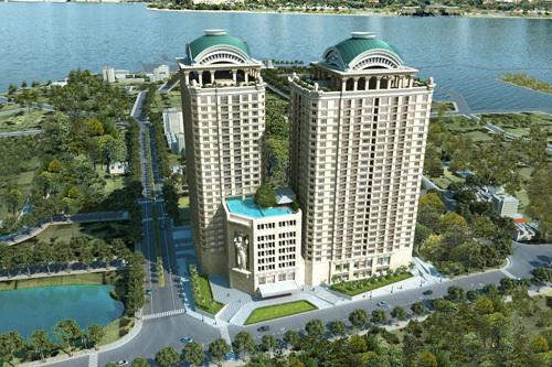 Tân Hoàng Minh cất nóc dự án 'khủng' bên hồ Tây
