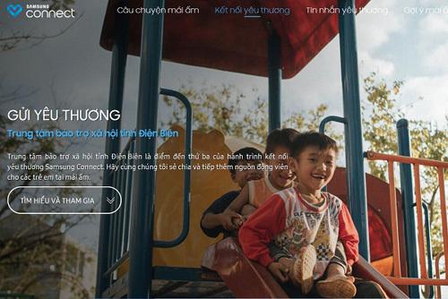 Thiện nguyện online cùng Samsung Connect