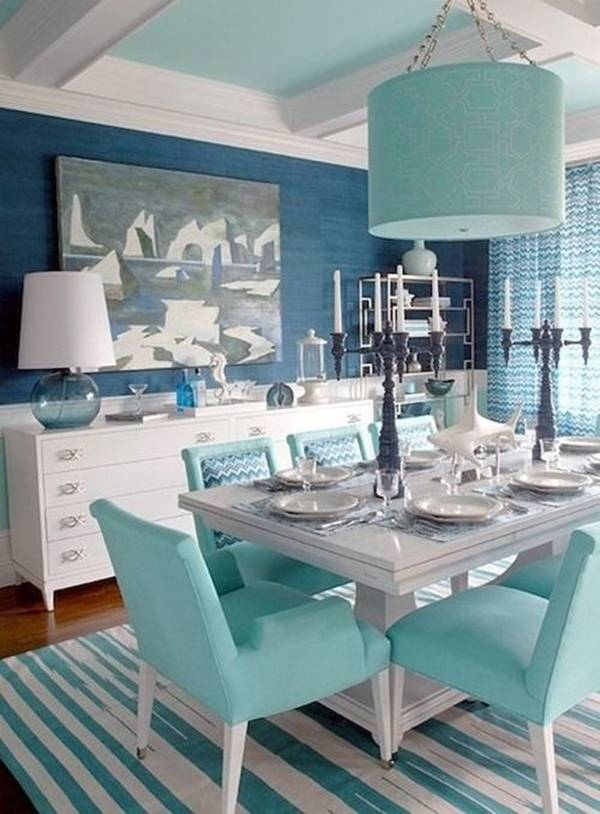 trang trí nhà, tư vấn thiết kế nhà, trang trí nhà với tông màu xanh