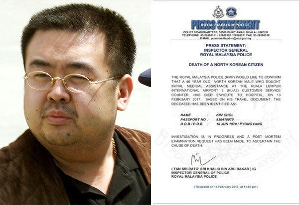 Malaysia ướp xác 'Kim Chol'