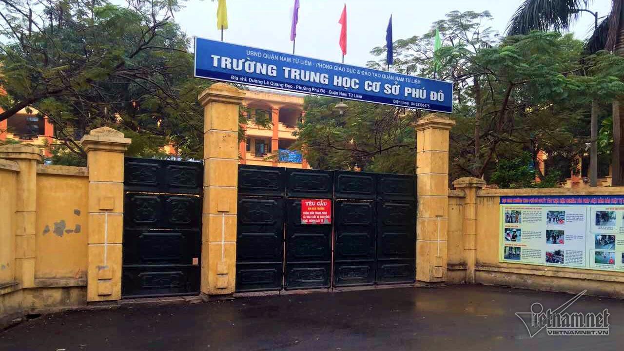 THCS Phú Đô, hiệu trưởng trường thcs phú đô, sai phạm trường học
