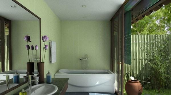 trang trí nhà, phong cách đồng quê, phòng tắm đẹp