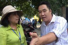 Dân tranh cãi với nữ chủ tịch hứa 'từ quan' về vạch kẻ vỉa hè