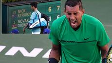 """Thua sốc """"gã trai hư"""", Djokovic cay cú đập gãy vợt"""