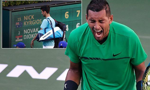 Novak Djokovic, Nick Kyrgios, Indian Wells, quần vợt, tennis