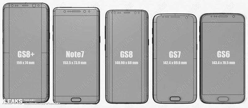 Xem nguyên mẫu Galaxy S8 đọ dáng với iPhone 7 Plus