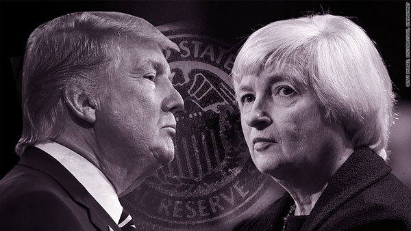 Donald Trump, Janet Yellen, Mỹ tăng lãi suất, lãi suất Mỹ, lãi suất USD, lãi suất cơ bản Mỹ, kinh tế Mỹ, Fed tăng lãi suất, Cục dự trữ liên bang Mỹ, chính sách tiền tệ Mỹ
