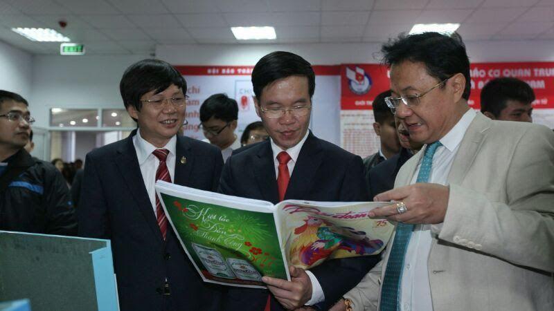 Võ Văn Thưởng, Trưởng ban Tuyên giáo Trung ương, Phó Thủ tướng Vũ Đức Đam, hội báo toàn quốc 2017, báo chí