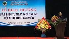 Ra mắt báo điện tử Ngày mới online