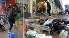 Hà Nội: Bắc ghế, kê bao tải trèo vào nhà