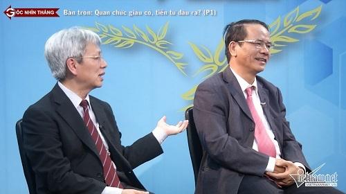tài sản quan chức, quan chức tham nhũng, quan chức giàu có, quan chức Việt Nam, Góc nhìn thẳng, bàn tròn trực tuyến, đạo đức công vụ, lòng tin công chúng, lương công chức