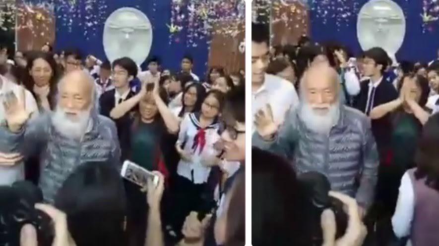 Học sinh chen chúc đón thầy Văn Như Cương xuất viện