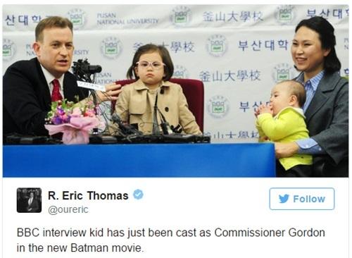 Cô bé 'phá' bố trên truyền hình tiếp tục gây sốt mạng xã hội