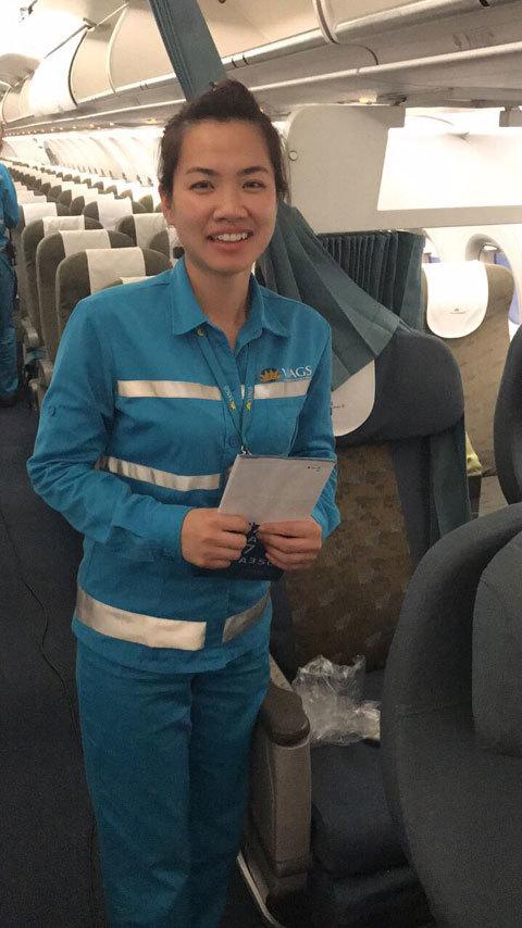 nhân viên hàng không, nữ nhân viên, quên hành lý, Vietnam Airlines, sân bay Nội Bài, mất hành lý