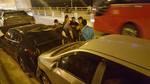 5 xế hộp đâm liên hoàn trên đường về Hà Nội