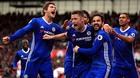 Thắng nghẹt thở Stoke, Chelsea nhìn thấy ngôi vương
