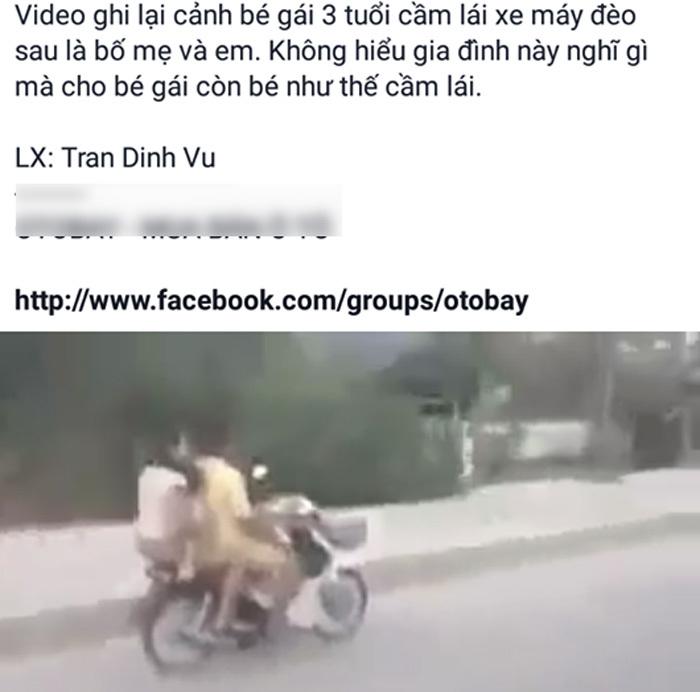Bé gái lái xe, xe máy, tai nạn, lái xe máy,