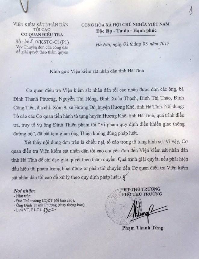 oan sai, náo loạn chốn công đường, án oan, Hà Tĩnh