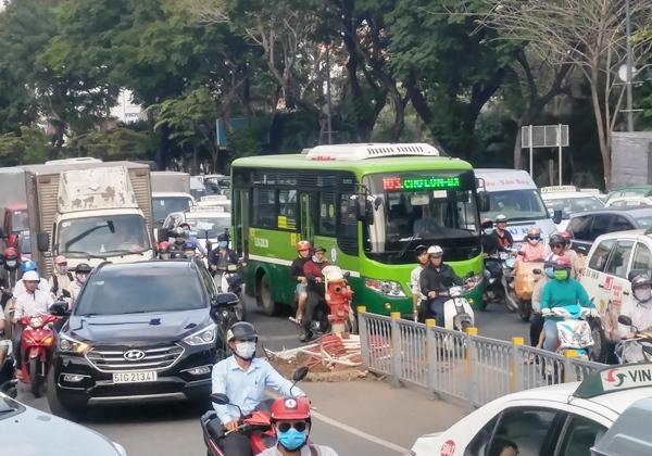 TPHCM, làn đường dành riêng cho xe buýt, xe buýt, Điện Biên Phủ, Võ Thị Sáu, Sở GTVT, trung tâm vận tải hành khách cộng cộng