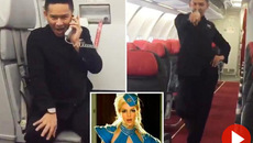 Tiếp viên hàng không nhảy trên máy bay điệu nghệ