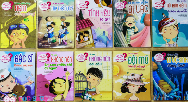 Trả lời câu hỏi 'vì sao' của trẻ hài hước và lãng mạn qua sách