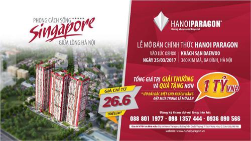 Mở bán Hanoi Paragon: Giải thưởng, quà tặng hơn 1 tỷ đồng