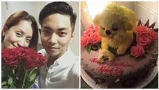Khoảnh khắc ngọt ngào của cặp đôi lệch tuổi Phan Hiển - Khánh Thi