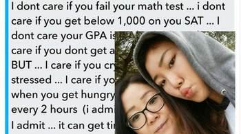 Tin nhắn mẹ Hàn Quốc gửi con gái lan truyền mạnh mẽ