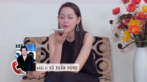 Thí sinh Minh Ngọc gọi điện cho nhạc sỹ NS Vũ Xuân Hùng