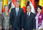 Hình ảnh lễ đón chính thức Thủ tướng Singapore tại Phủ Chủ tịch