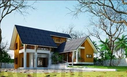 xây nhà, tư vấn xây nhà 1 tầng, xây nhà vườn ở nông thôn