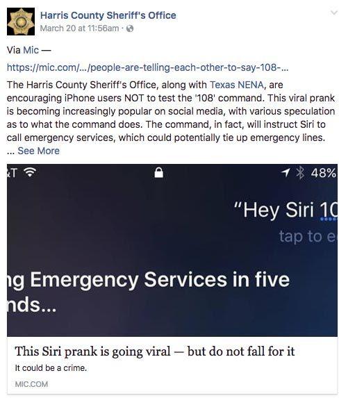 Người dùng iPhone được khuyến cáo không nói '108' với Siri
