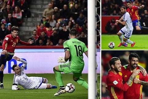 Video bàn thắng Tây Ban Nha 4-1 Israel