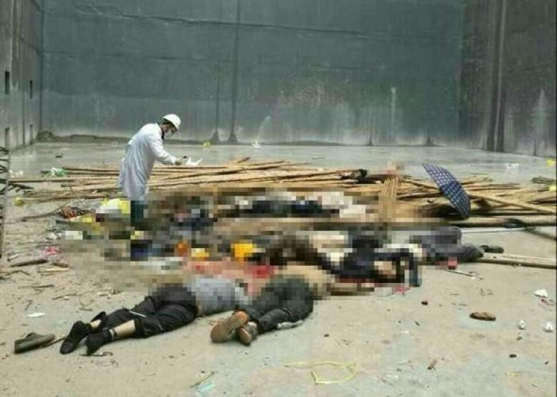 Sập giàn giáo nhà máy nhiệt điện TQ, ít nhất 9 người chết