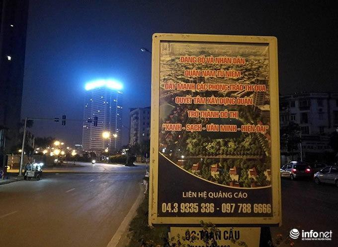 Lỗi chính tả 'ngây ngô' nằm hiên ngang giữa đường ở quận Nam Từ Liêm