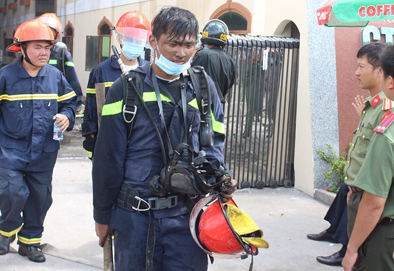 khu công nghiệp Cần Thơ, cháy công ty may, cháy lớn ở Cần Thơ, lính cứu hỏa