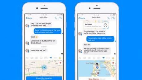Facebook bổ sung tính năng chia sẻ vị trí trực tiếp trên Messenger