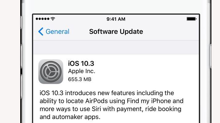 Apple phát hành iOS 10.3, thêm tính năng tìm tai nghe không dây
