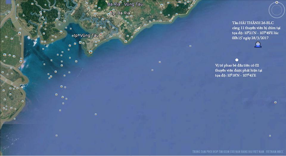 chìm tàu, 9 thuyền viên mất tích, tìm kiếm cứu nạn, Vũng Tàu